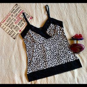White House Black Market Leopard Cami